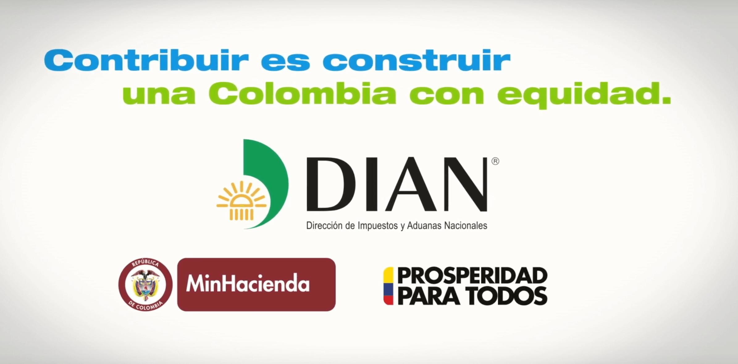 """Comercial Dian """"una Colombia con Equidad"""""""